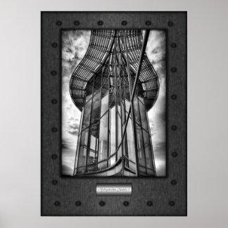 Fine Art, Teleportation Module, faux riveted steel Poster
