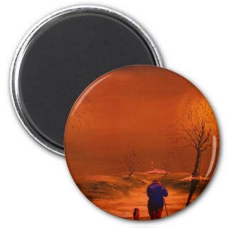 Fine art-wall art 6 cm round magnet