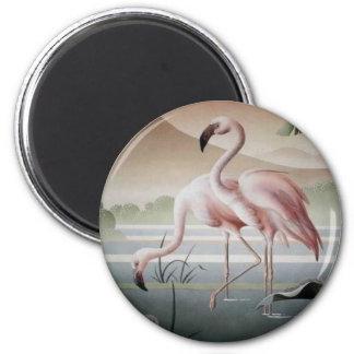 Fine At Pink Flamingo Magnet