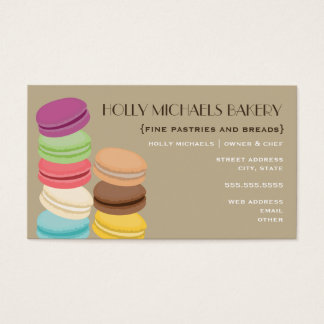Fine Bakery Business Card - Eight French Macarons