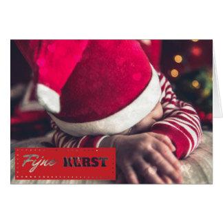 Fine Christmas photograph Christmas card