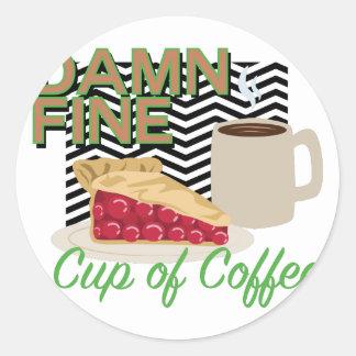 Fine Coffee & Pie Round Sticker