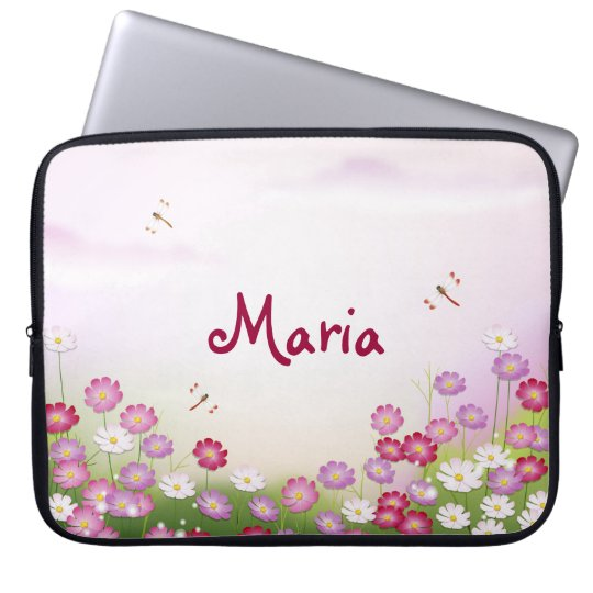 Fine Cool Cute Girly Retro Floral Fashion Laptop Sleeve