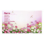 Fine Cool Cute Girly Retro Floral Fashion Pack Of Standard Business Cards