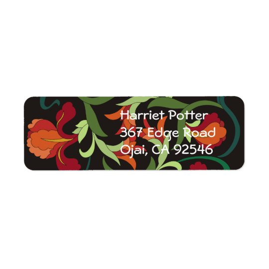 Fine Cool Cute Girly Retro Floral Fashion Return Address Label