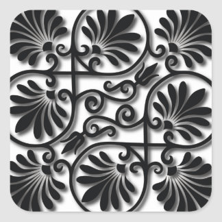 Fine Cool Cute Girly Retro Floral Fashion Square Sticker