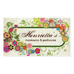 Fine Cute Cool Girly Retro Floral Fashion Pack Of Standard Business Cards
