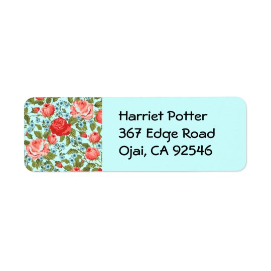 Fine Cute Cool Girly Retro Floral Fashion Return Address Label