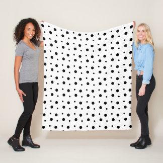 Fine Dalmatian Spots Fleece Blanket