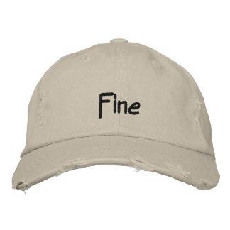 Fine Dark Text Baseball Cap