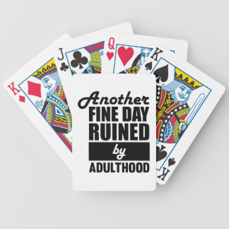 Fine Day Ruined Bicycle Playing Cards