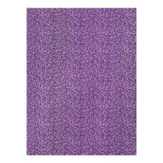 Fine Faux Glitter Shiny Sparkles Purple Violet Personalized Invite