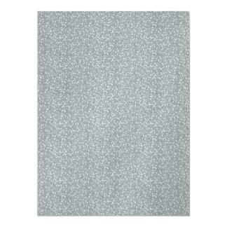 Fine Faux Glitter Shiny Sparkles Silver White Personalized Invite