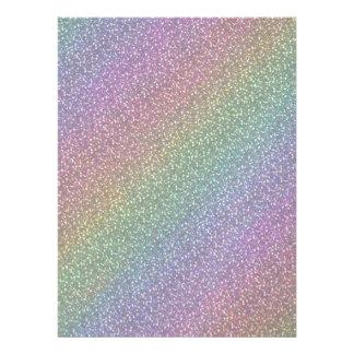 Fine Faux Glitter Sparkles Rainbow Pearl Diagonal Custom Invite