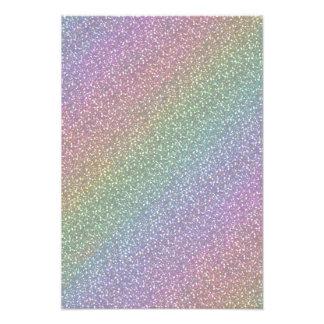 Fine Faux Glitter Sparkles Rainbow Pearl Diagonal Photo