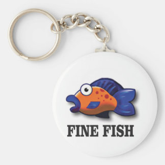fine fish yeah key ring