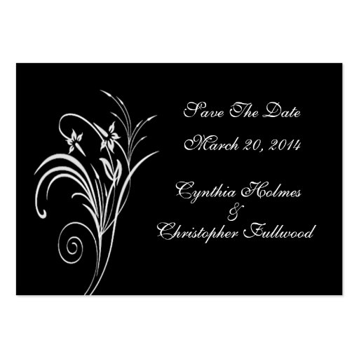 Fine Floral White Save The Date Cards Business Cards