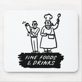 Fine Foods and Drink Mouse Pad