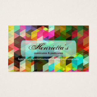 Fine Geometric Girly Retro Fashion Business Card