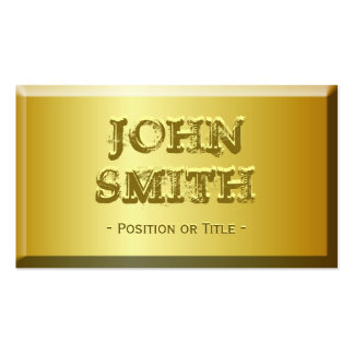 Fine Gold Brick Look with Custom Embossed Text Pack Of Standard Business Cards
