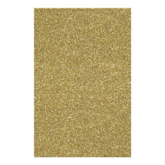 Fine Golden Glitter Background Texture Print Customized Stationery