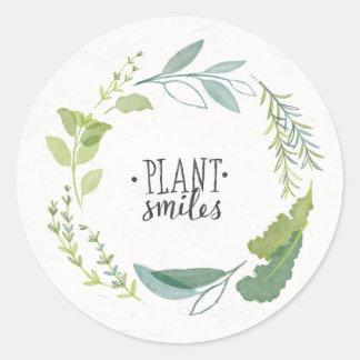 Fine Herbs II   Plant Smiles Classic Round Sticker