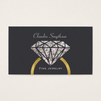 Fine Jewelry Business Card Engagement Ring