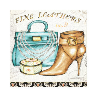Fine Leather Bag and Shoe Canvas Print