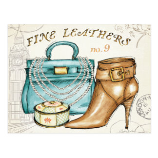 Fine Leather Bag and Shoe Postcard