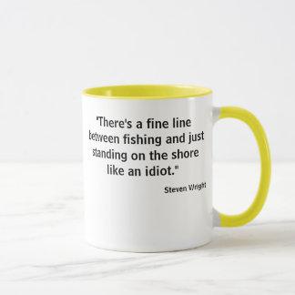 Fine line fishing tee w photo lure back mug