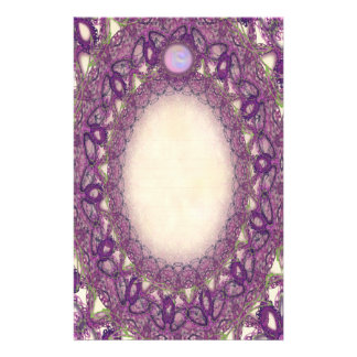 Fine Lined Purple Butterfly Lace Stationery