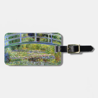 Fine Monet Japanese Bridge & Water-Lily Pond Luggage Tag