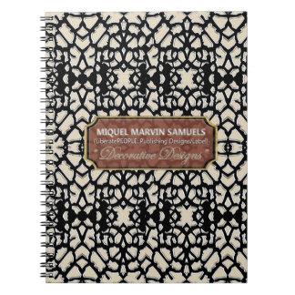 Fine Old White Church Windows Modern Notebook