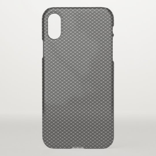 Fine Silver Metal Mesh Pattern iPhone X Case