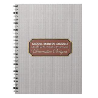 Fine Silver Pattern Decorative Modern Notebook