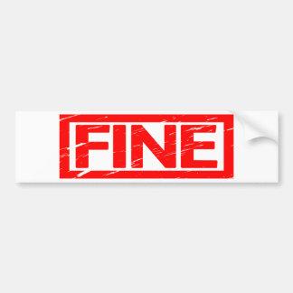 Fine Stamp Bumper Sticker