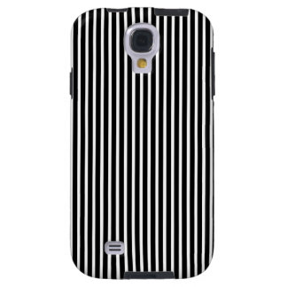 Fine Stripes Galaxy S4 Case in Black and White