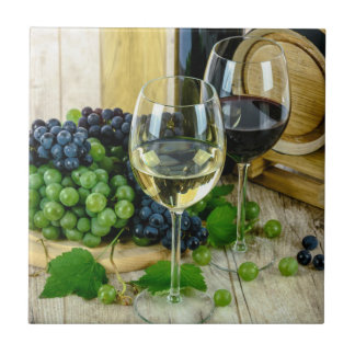 Fine Wine, Aged to Perfection Ceramic Tile