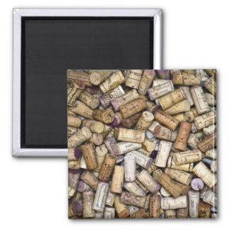 Fine Wine Corks Square Magnet