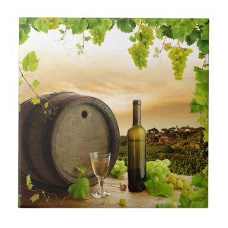 Fine Wine Small Square Tile