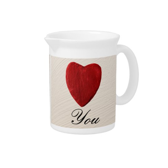 Finery background Love you Beverage Pitcher