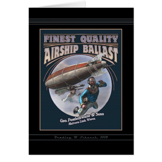 Finest Quality Airship Ballast Greeting Card