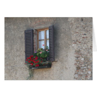 Finestra Di Villa, Toscana, Italia Card