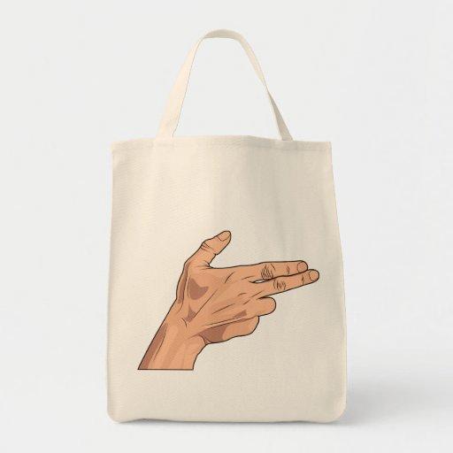 Finger Gun Pistol Shooting Hand Sign Gesture Bags