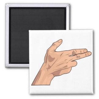 Finger Gun Pistol Shooting Hand Sign Gesture Refrigerator Magnet