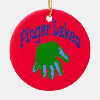 Finger Lake Cartoon Ceramic Ornament