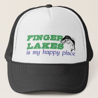 Finger Lakes is my happy place Trucker Hat