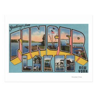 Finger Lakes, New York - Large Letter Scenes Postcard