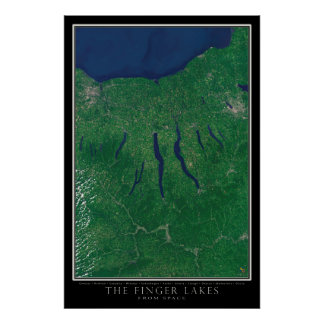 Finger Lakes Region Satellite Poster