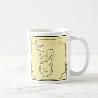 Finger me classic white coffee mug